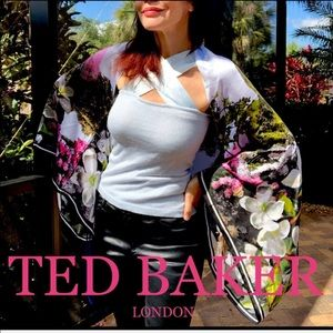 💯 TED BAKER Windermere silk cape scarf